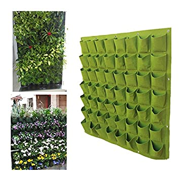 zuolan fieltro planta bolsa bolsas de colgar en la pared jardinería maceta pared GREENING bolsas de