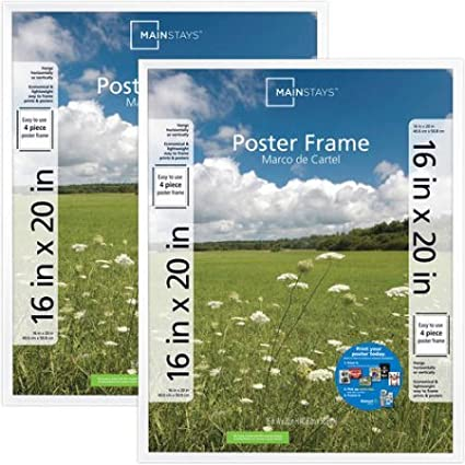 Amazon.com - Mainstays 16x20 Basic Poster & Picture Frame, White ...