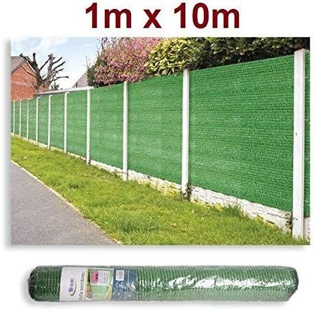 HERSIG Malla de sombreo ocultación 95% 120gr Lona Sombra Color Verde 1x10m Metros: Amazon.es: Jardín