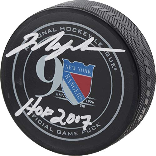 Mark Messier New York Rangers Autographed 90th Anniversary Season Official Game Puck with