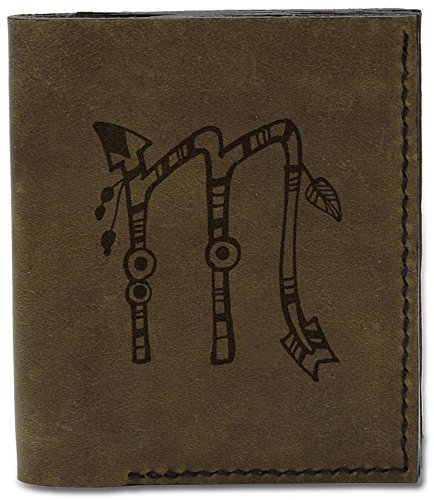Leather Wallet Hand 04 Drawn d Zodiac Handmade MHLT Scorpio Natural Signs Men's Genuine 08wvd8