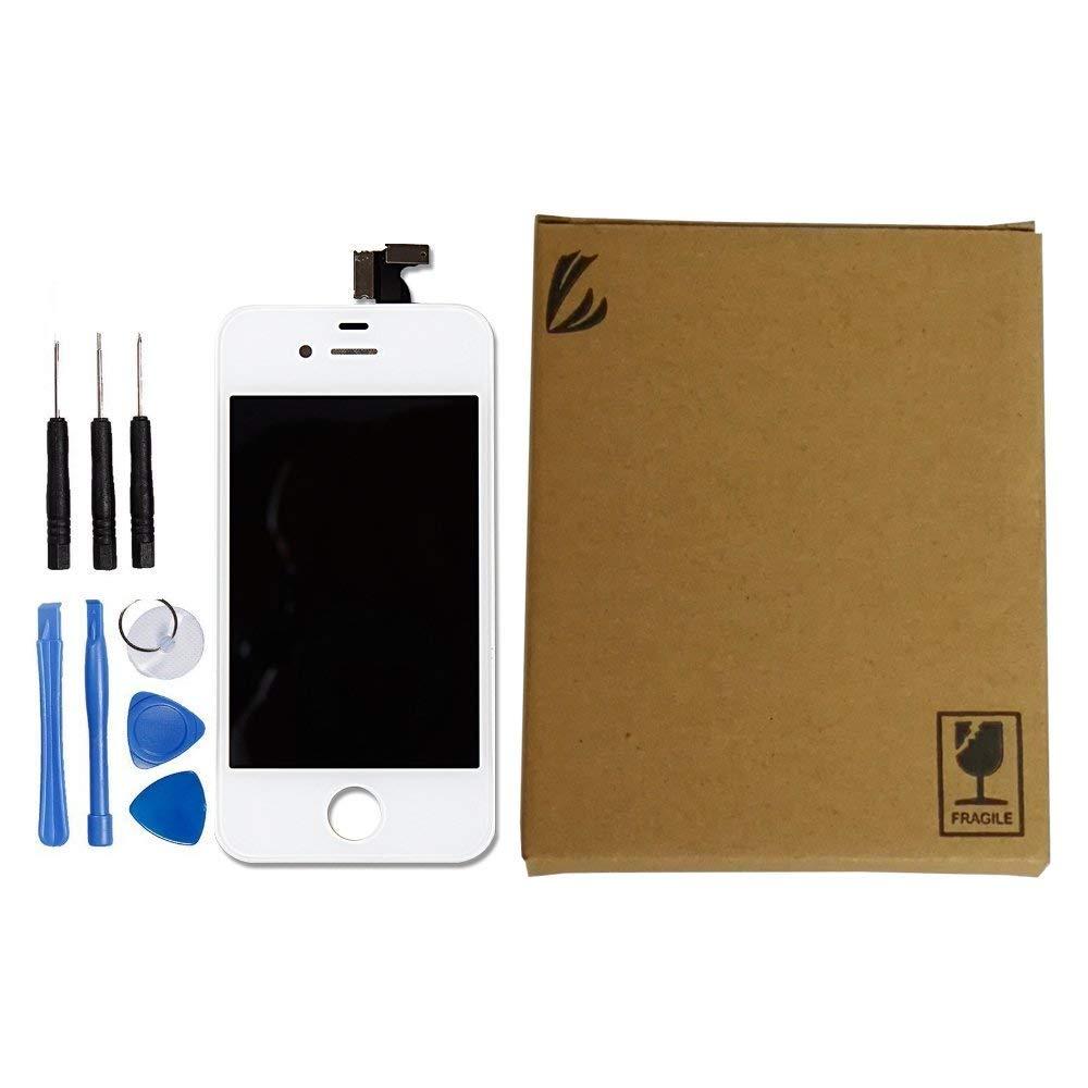 LL TRADER Pantalla LCD de pantalla t/áctil reemplazo del digitizador Asamblea para iPhone 4 Negro