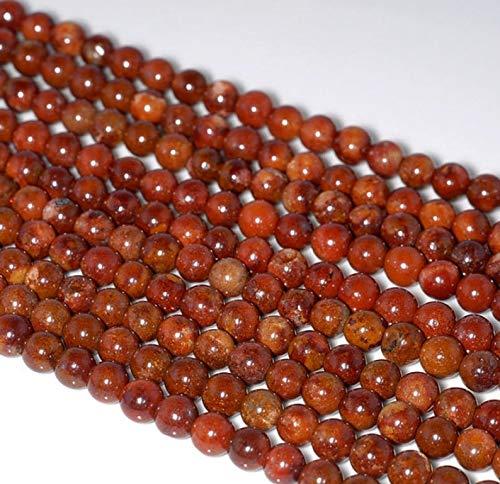 Jewelry Making Supplies - 5mm Red Phantom Quartz Gemstone Full Grade AAA Round 5mm Loose Beads 15.5 inch Full Strand (80000745-908) - Perfect and Stunning Beads