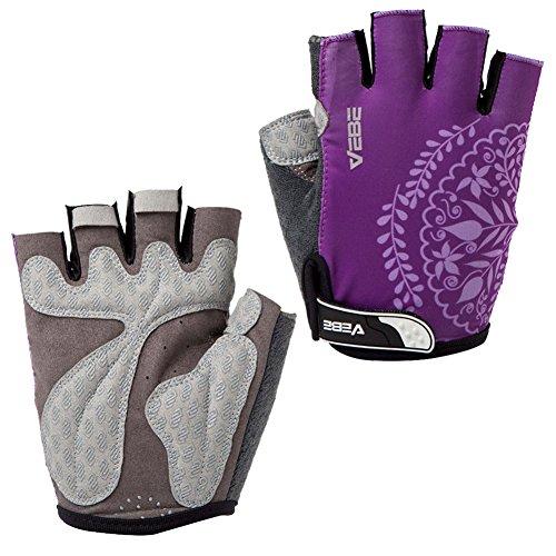 SBD VEBE Womens Sports Professional Non-Slip Biking Riding Gloves Cycling Accessaries,Purple,S