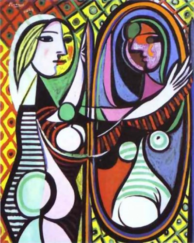 Girl Before Mirror- Picasso - CANVAS OR FINE PRINT WALL ART