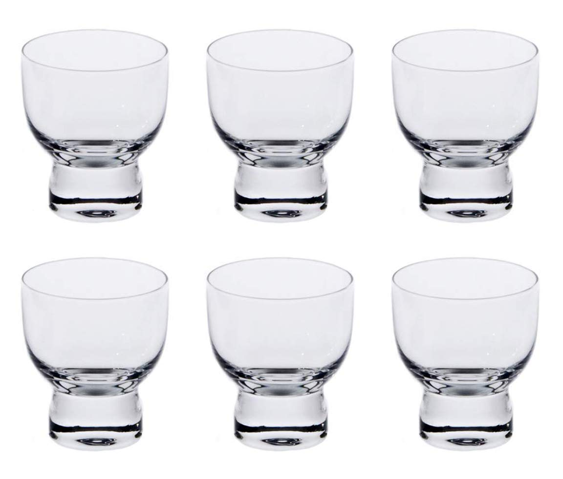 Happy Sales HSSC-6CLR2, Set of 6 Cold Glass Sake Cup Cups, Clear Glass by Happy Sales
