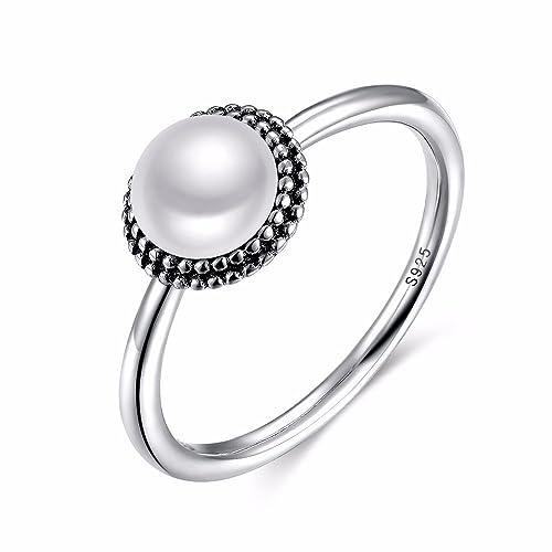 Yiyue Anillo Cómodo 925 Ring Ring Es Elegante Y con Estilo Y Elegante Cordón Simple 8