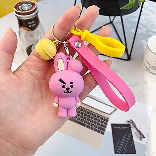 - Bosunshine New Hot Cute Plush Cartoon Keychain Key Ring Bag Streamers (Bell-7)