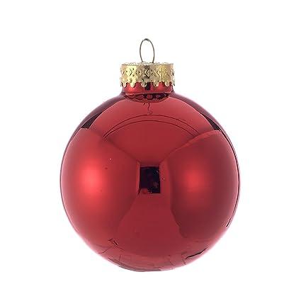 Kurt Adler 65mm Shiny Red Glass Ball Ornaments, 6-Piece Box Set - Amazon.com: Kurt Adler 65mm Shiny Red Glass Ball Ornaments, 6-Piece