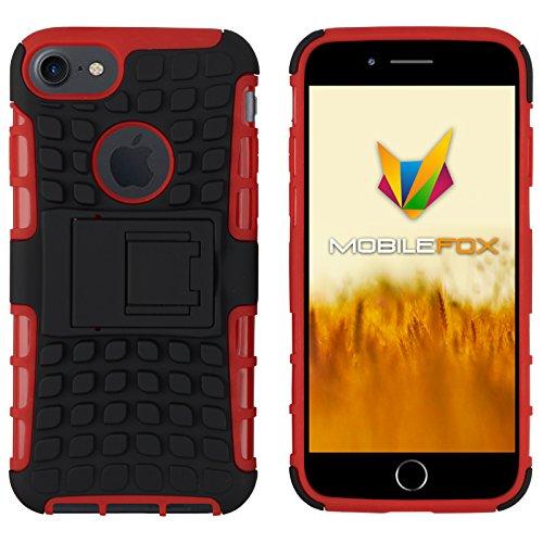 Mobilefox Safe-Grip Outdoor Case Schutzhülle 2in1 TPU Apple iPhone 7 Rot