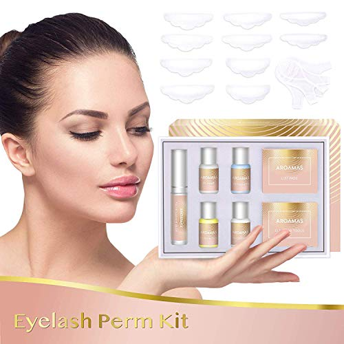 Aroamas Eyelash Perm Kit Full Eyelash Lift Kit - Professional Quality, Semi-Permanent Curling Perming Wave, Lotion & Liquid Set (Perm Permanent Semi)