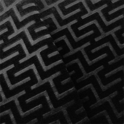 P. Kaufmann Licorice Black Perspective Velvet Home Decorating Fabric, Fabric by The Yard