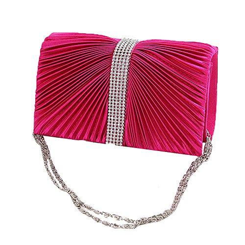 clutch femme evening Multi pour UNYU Rose color Pochette 5Ig4Ww
