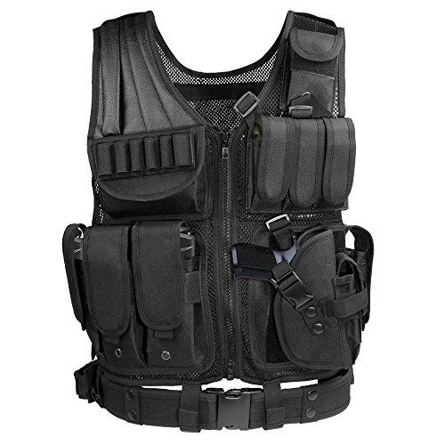 Tactical Vest, Weize Elite Molle Law Enforcement Vest Modular Assault Vest