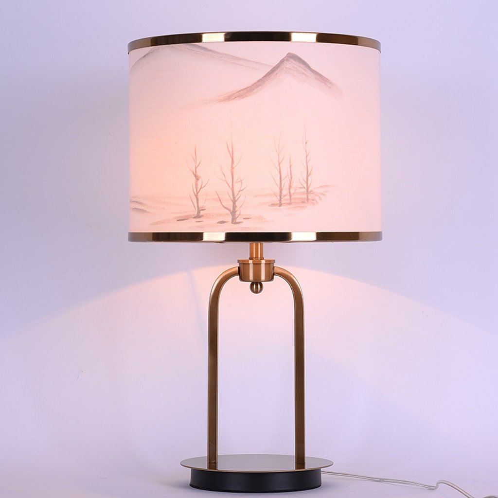 Iron Art Table Lamp Creative Bedroom Bedside Reading Lamp Study Desk Lamp H61CM W35CM E27 Light Source