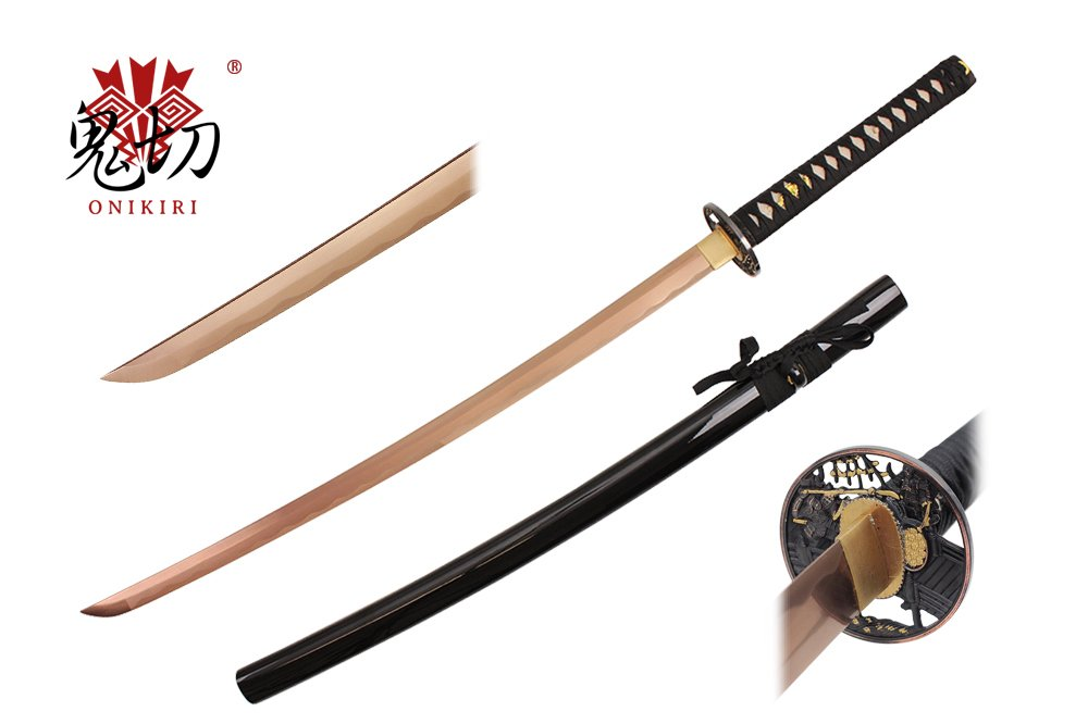Onikiri F-586-RG 1045 High Carbon Steel Color Blade Handmade Katana Sword