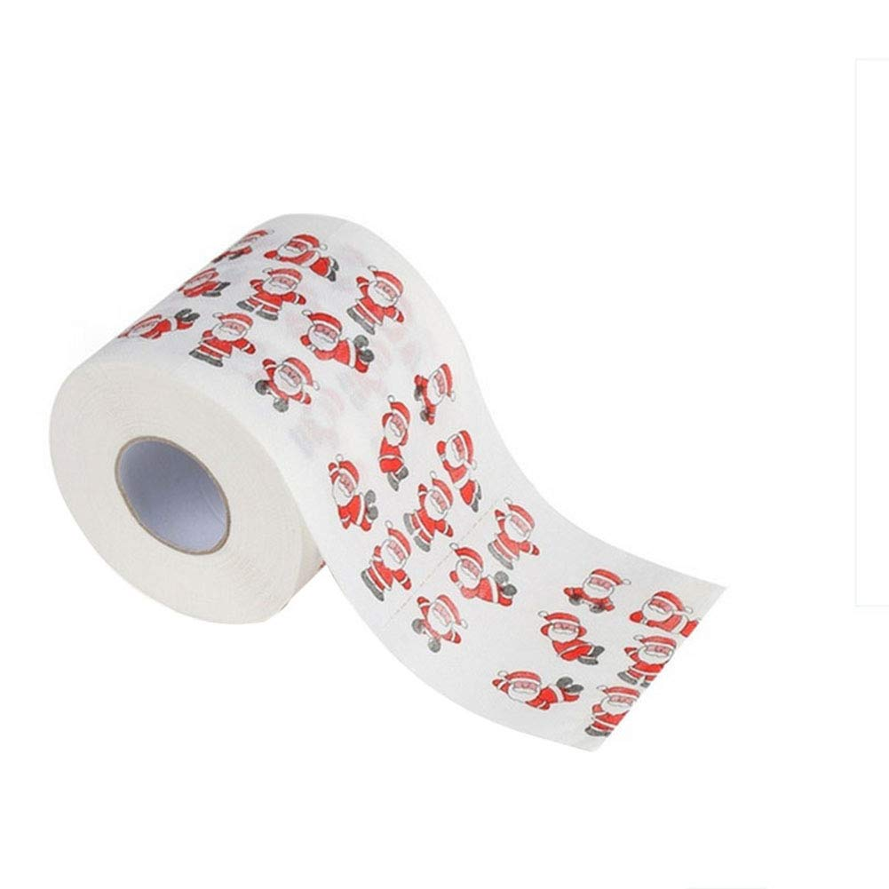 1 Carremark Santa Merry Christmas Toilet Roll Paper Table Living Room Bathroom Fabric