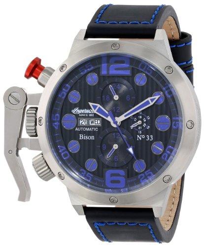 Ingersoll Men's IN1629BL Bison No. 33 Analog Display Automatic Self Wind Black Watch