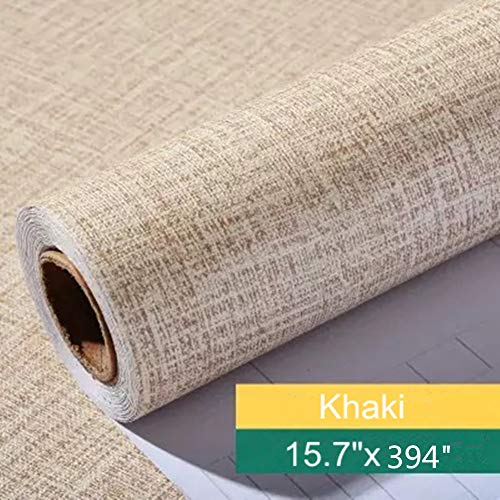 Yancorp Faux Grasscloth Peel Stick Wallpaper Fabric Self-Adhesive Contact Paper Linen Removable -