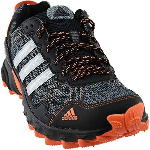 adidas Women's Rockadia w Trail Running Shoe, Carbon/Raw Steel/Trace Scarlet, 8.5 M US