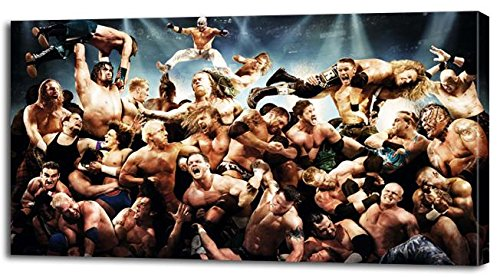 WWE WRESTLERS PRINT On CANVAS Home Wall Decor Art Raw Cena Picture P087, Large (Wwe Pictures)