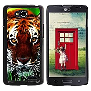Paccase / SLIM PC / Aliminium Casa Carcasa Funda Case Cover para - Cat Nature Africa Orange Animal - LG OPTIMUS L90 / D415
