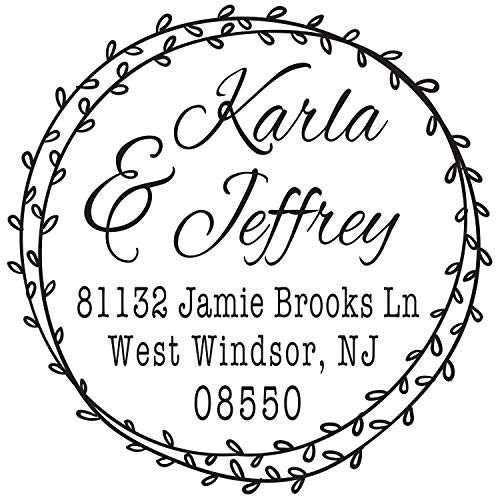 Stamp Graphic - Monogram Address Stamp - Personalized Self Inking Rubber Stamp (MOAD032-SI)