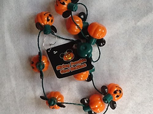 Mickey Mouse Pumpkin Necklace, Halloween Necklace, Battery Operated Necklace -