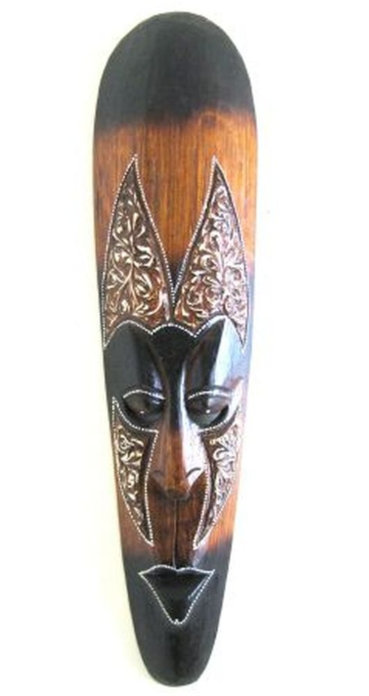 African Wall Mask Wall Decor, Fire Mask Tribal Lucky In Love Woman - LARGE 20'' - OMA BRAND by OMA