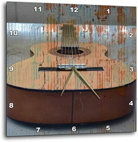 3dRose dpp_29250_2 Guitar Tread Music Instruments-Wall Clock, 13 by 13-Inch