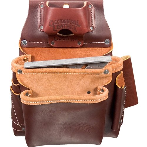 (Occidental Leather 5061 2 Pouch Pro Fastener Bag )