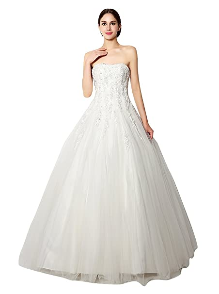 Beauty Emily Flower Lace Sweetheart Strapless Ball Wedding