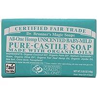 Dr Bronner Bar Soap Organic Mild Baby 5 oz ( 12-Pack)