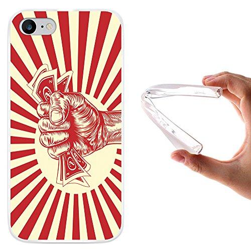 WoowCase Hülle Case für [ iPhone 7 ] Handy Cover Schutzhülle Faust mit Geld