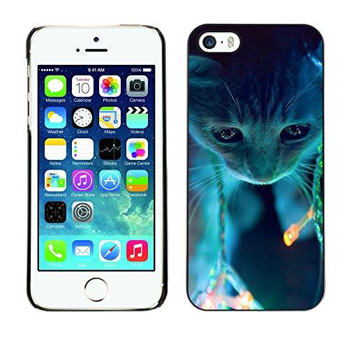 Omega Case PC Polycarbonate Cas Coque Drapeau - Apple iPhone 5 / 5S ( Cute Neon Cat )
