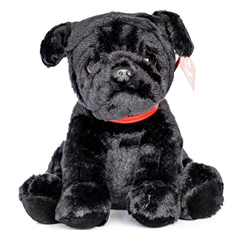 (Aurora Black Pug Plush Soft Toy)