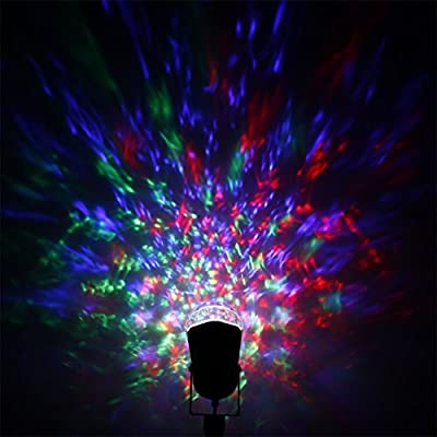 YKS Outdoor Party Lights Garden LED Magic Ball Light Projector Waterproof Magical Light Rotating House Stage Party Crystal Disco Ball for Home Decoration DJ Bar Wedding Party Show
