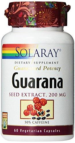 Solaray Guarana Seed Extract Supplement, 200mg, 60 Count - Guarana Seed