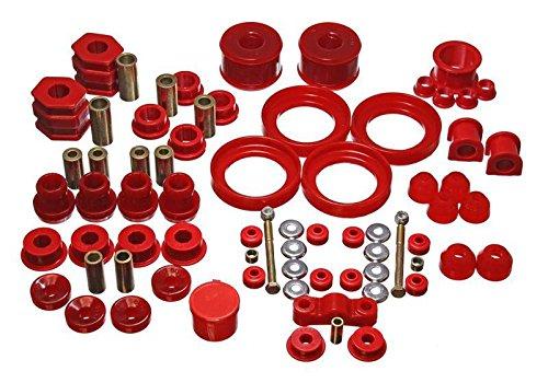 Honda Civic Suspension System - Energy Suspension Hyper-Flex Bushing System (Red) - Civic - 1996-2000 - 16.18110R