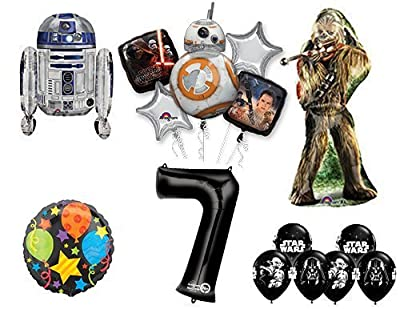 The Ultimate Star Wars 7th Birthday Party Supplies and Balloon decorations