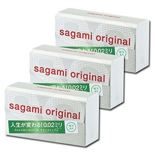 JAPAN SAGANI ORIGINAL 002 12pcs Regular-size condom 3boxes +Fighting Spirit lotion 12 ml by 002