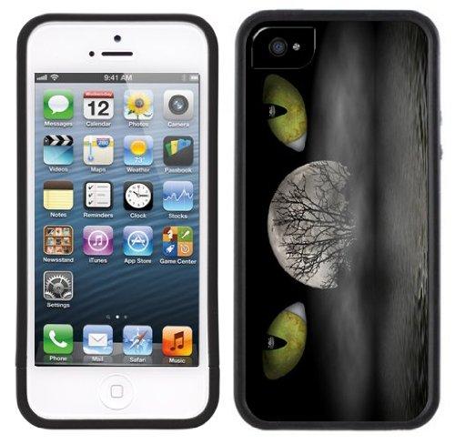 Cat Eyes Moon Water | Handgefertigt | iPhone 5 5s | Schwarze Hülle