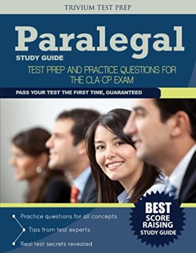 paralegal study guide test prep and practice questions for the cla rh amazon com SHRM Exam Study Guide Exam Study Tips