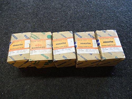 lot-of-5-komatsu-307-15-12720-forklift-oil-filter-new-original