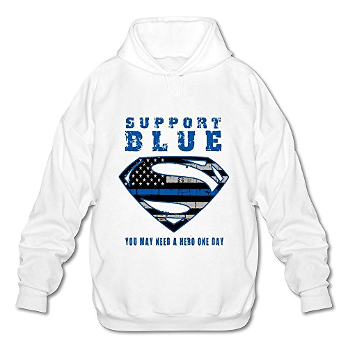 HUBA Men's Hoodies Thin Blue Line-superman White Size XL (Samsung Microwave Ring compare prices)