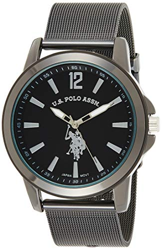 U.S. Polo Assn. Classic Men's Quartz Metal and Alloy Watch, Color Black (Model: USC80384)