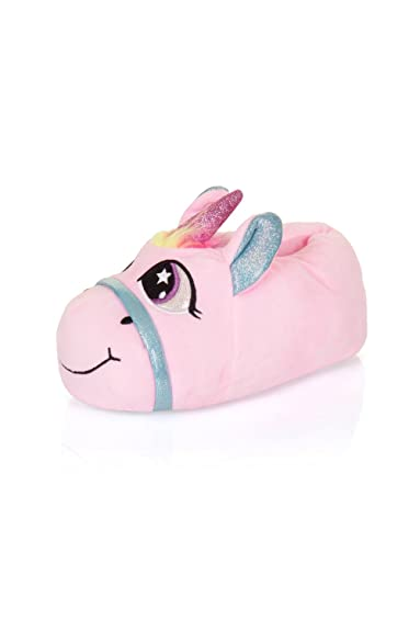 24095c6196ce Nifty Kids 3D Unicorn Slippers Pink Rainbow - UK 10-11  Amazon.co.uk  Shoes    Bags