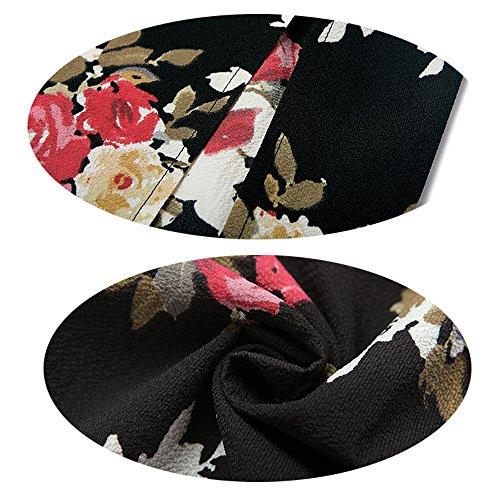 Bretelles Maxi Nouveau L Black Fminine Imprimer Robe Robe Irrgulire Sexy Vacances Plage Sexy Manches Wrap Poitrine Temprament Plage Mode Bohme 2018 sans 6qw8vv