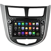 Car GPS Navigation System for HYUNDAI VERNA ACCENT SOLARIS 2011 2012 Android 5.1 Quad-Core DVD Player w/ Radio+RDS +Bluetooth+WIFI+SWC+AUX In+Free Backup Rear View Camera+Free US Map