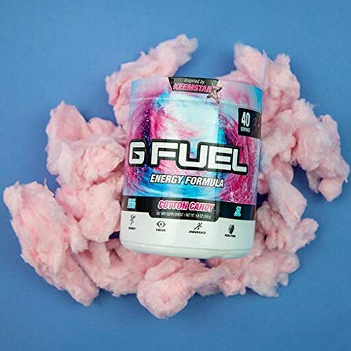 G Fuel Cotton Candy Tub (40 Servings) Elite Energy and Endurance Formula 9.8 oz. by G Fuel (Image #2)